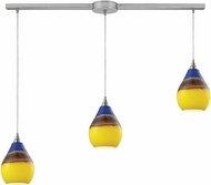 ELK 31616-3L Dunes Contemporary Satin Nickel Multi Lighting Pendant