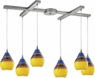 ELK 31616-6 Dunes Modern Satin Nickel Multi Pendant Lamp