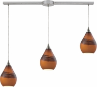 ELK 31617-3L Dunes Modern Satin Nickel Multi Pendant Lighting Fixture