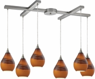 ELK 31617-6 Dunes Contemporary Satin Nickel Multi Hanging Pendant Lighting