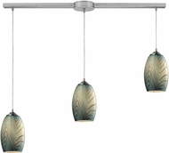 ELK 31620-3L Tidewaters Contemporary Satin Nickel Multi Drop Lighting