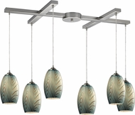 ELK 31620-6 Tidewaters Modern Satin Nickel Multi Drop Ceiling Lighting