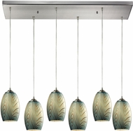 ELK 31620-6RC Tidewaters Contemporary Satin Nickel Multi Ceiling Light Pendant