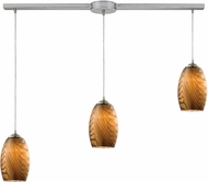 ELK 31630-3L Tidewaters Modern Satin Nickel Multi Drop Lighting Fixture