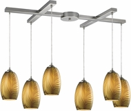 ELK 31630-6 Tidewaters Contemporary Satin Nickel Multi Pendant Lighting