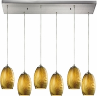 ELK 31630-6RC Tidewaters Modern Satin Nickel Multi Pendant Light