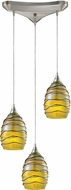ELK 31658-3 Vines Modern Satin Nickel Multi Hanging Light