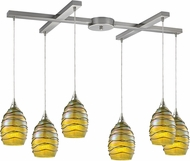 ELK 31658-6 Vines Modern Satin Nickel Multi Pendant Lighting Fixture