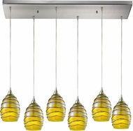 ELK 31658-6RC Vines Contemporary Satin Nickel Multi Hanging Pendant Lighting