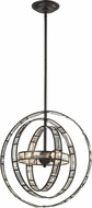 ELK 31660-3 Crystal Orbs Oil Rubbed Bronze Halogen Hanging Pendant Light