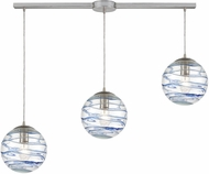 ELK 31743-3L Vines Contemporary Satin Nickel Multi Drop Lighting Fixture