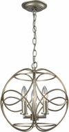 ELK 31801-3 Chandette Contemporary Aged Silver Hanging Pendant Light
