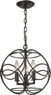 ELK 31811-3 Chandette Modern Oil Rubbed Bronze Hanging Light Fixture