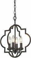 ELK 31812-4 Chandette Contemporary Oil Rubbed Bronze Drop Lighting