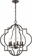 ELK 31818-6 Chandette Modern Oil Rubbed Bronze Foyer Lighting Fixture