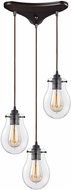 ELK 31934-3 Jaelyn Contemporary Oil Rubbed Bronze Multi Drop Ceiling Lighting