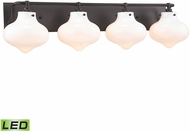 ELK 31953-4-LED Kelsey Contemporary Oil Rubbed Bronze LED 4-Light Bathroom Lighting Fixture