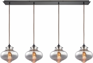 ELK 31955-4LP Kelsey Contemporary Oil Rubbed Bronze Multi Hanging Light