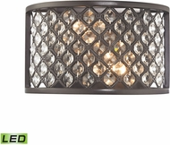ELK 32100-2-LED Genevieve Oil Rubbed Bronze LED Wall Sconce Light