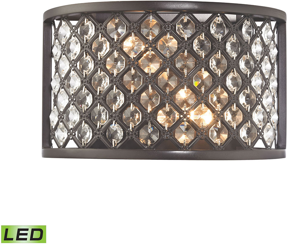 Elk 32100 2 Led Genevieve Oil Rubbed Bronze Wall Sconce Light