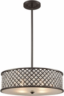 ELK 32105-4 Genevieve Oil Rubbed Bronze Drum Hanging Pendant Light