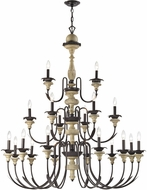 ELK 32222-12-6-3 Channery Point Oil Rubbed Bronze Aged Cream Lighting Chandelier