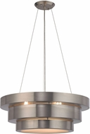 ELK 32225-3 Layers Contemporary Brushed Stainless Ceiling Pendant Light