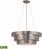 ELK 32225-3-LED Layers Modern Brushed Stainless LED Drop Ceiling Light Fixture