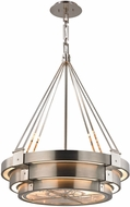 ELK 32226-8 Chronology Contemporary Brushed Stainless Polished Stainless Halogen Drop Lighting Fixture