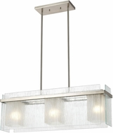 ELK 32329-3 Vellis Contemporary Satin Nickel Kitchen Island Light Fixture