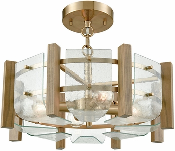 ELK 32331-4 Vindalia Contemporary Satin Brass Ceiling Light Fixture