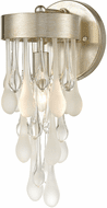 ELK 32340/1 Morning Frost Contemporary Silver Leaf Wall Light Sconce