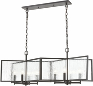 ELK 32423-8 Inversion Modern Charcoal Kitchen Island Light