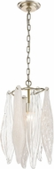 ELK 32432-1 Winterlude Contemporary Silver Leaf Mini Ceiling Light Pendant
