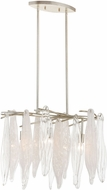 ELK 32433-3 Winterlude Modern Silver Leaf Ceiling Pendant Light