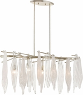 ELK 32434-5 Winterlude Contemporary Silver Leaf Island Light Fixture