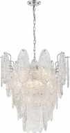 ELK 32445-9 Frozen Cascade Contemporary Polished Chrome 26  Drop Ceiling Light Fixture