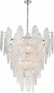 ELK 32446-13 Frozen Cascade Modern Polished Chrome 34  Drop Lighting Fixture