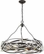 ELK 33056-8 Nestled  Oil Rubbed Bronze Drum Hanging Lamp