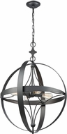 ELK 33065-4 Farwell Contemporary Dark Graphite Pendant Light Fixture