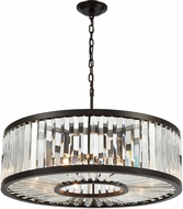 ELK 33067-9 Palacial Oil Rubbed Bronze 28  Drum Pendant Lighting Fixture
