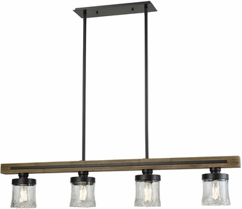 ELK 33071-4 Timberwood Contemporary Oil Rubbed Bronze Island Light Fixture