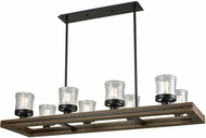 ELK 33073-8 Timberwood Contemporary Oil Rubbed Bronze Island Lighting