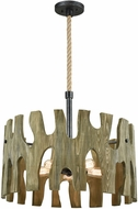 ELK 33155-5 Driftwood Cove Modern Silvered Graphite 29  Drum Drop Lighting Fixture