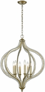 ELK 33204-6 Bennington Modern Aged Silver 24  Hanging Pendant Lighting
