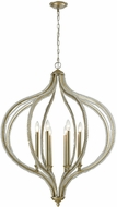 ELK 33205-8 Bennington Contemporary Aged Silver 33  Hanging Pendant Light