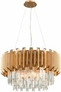 ELK 33215-6 Seneca Falls Matte Gold 26  Drum Pendant Hanging Light