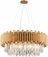 ELK 33216-8 Seneca Falls Matte Gold 34  Drum Hanging Light Fixture