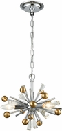 ELK 33251-3 Williston Polished Chrome / Satin Brass Mini Chandelier Lighting