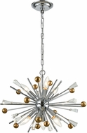 ELK 33252-6 Williston Polished Chrome / Satin Brass Mini Lighting Chandelier